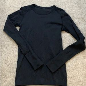 lululemon rest less pullover black 8